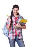 Young female student isolated Stock Photos