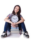 Young female student missing Royalty Free Stock Photos