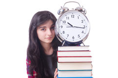 Young female student missing her deadlines Stock Photo