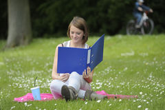 Young female student in the  park Stock Image