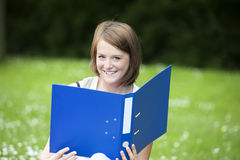 Young female student in the  park Stock Photography