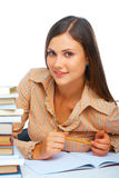 Young female student smiling Royalty Free Stock Images