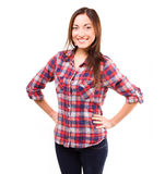 Young female student in studio Stock Photo