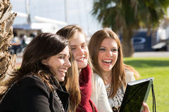 Young female students Stock Photography