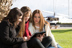 Young female students Stock Photos