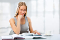 Young female students studying Royalty Free Stock Photo