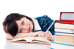 Young Female Studying Royalty Free Stock Photo