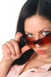 Young female in sunglass Royalty Free Stock Photography