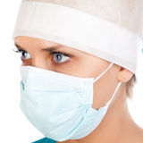 Young female surgeon stock photo