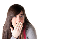 Young female surprised isolated Stock Photos