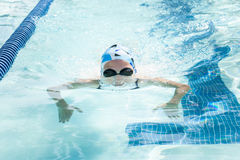 Young Female Swimming Breaststroke Royalty Free Stock Photography