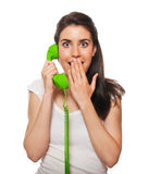 Young female talking on the phone Royalty Free Stock Photo