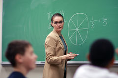 Young female teacher Stock Photo