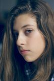 Young female teenager looking sad Royalty Free Stock Photos