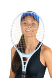 Young Female Tennis Player Royalty Free Stock Photos