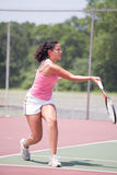 Young female tennis player Stock Photos