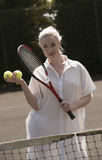 Young female tennis player Royalty Free Stock Image