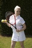 Young female tennis player Stock Image