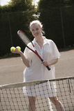Young female tennis player Stock Photography