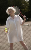 Young female tennis player Royalty Free Stock Photography