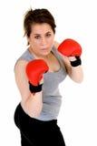 Young female thai boxer Stock Photo