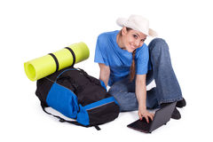 Young female tourist Stock Image