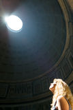 Young female tourist inside the Pantheon in Rome Royalty Free Stock Photos