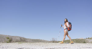 Young female tourist walking Stock Photography