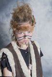 Young female tribal warrior Stock Photo