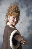 Young female tribal warrior Royalty Free Stock Photo