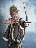 Young female tribal warrior Royalty Free Stock Images