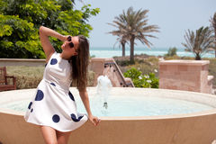 Young female on vacation Stock Photography