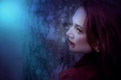 Young female vampire Stock Photo