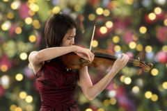 Young female violin player Stock Photo