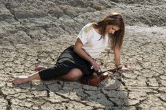 Young female violinist Royalty Free Stock Photo
