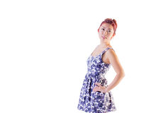 Young Female Wearing Summer Dress Royalty Free Stock Photos