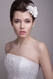 Young female in wedding dress Royalty Free Stock Photos