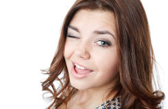 Young female winking Stock Photos