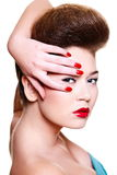 Young female woman with bright make-up Royalty Free Stock Photo