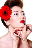 Young female woman with bright make-up Royalty Free Stock Photos