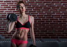 Young female working out Royalty Free Stock Image