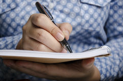 Business people writing Royalty Free Stock Photo