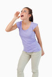 Young female yelling Royalty Free Stock Photo