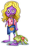 A young female zombie Royalty Free Stock Images