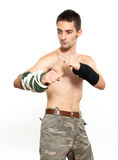 Young fighter Stock Images