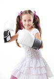 Young fighter girl Stock Photo