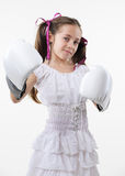 Young fighter girl Stock Photography