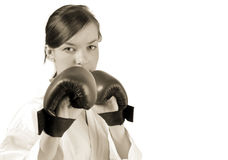 Young fighter portrait Royalty Free Stock Photos
