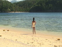 Young filipino girl stock video footage