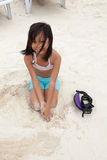 Young Filipino Girl At The Beach Stock Photo